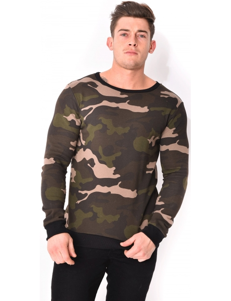 Sweat crewneck camo