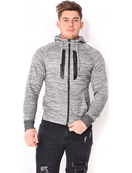 Sweat homme chiné
