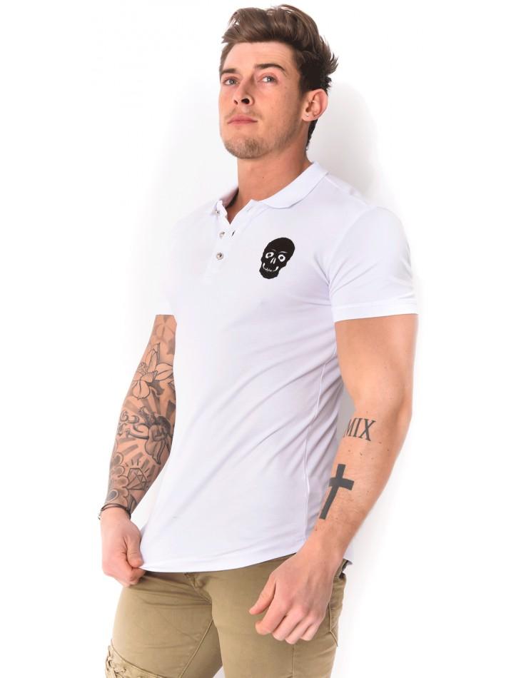 Men's Skull Polo Shirt