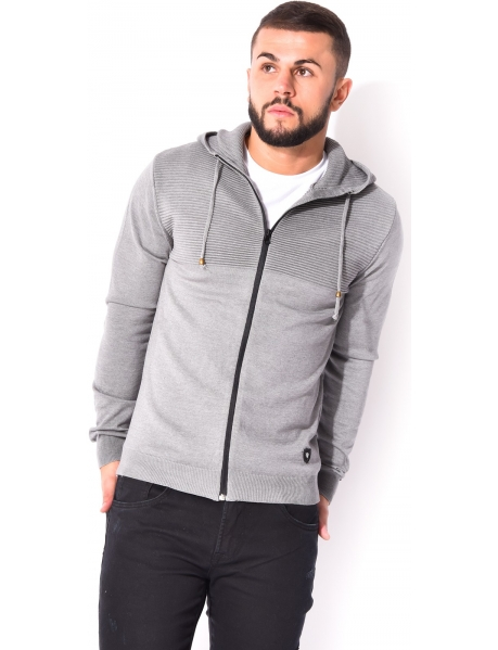 Zipped Jacket with Hood