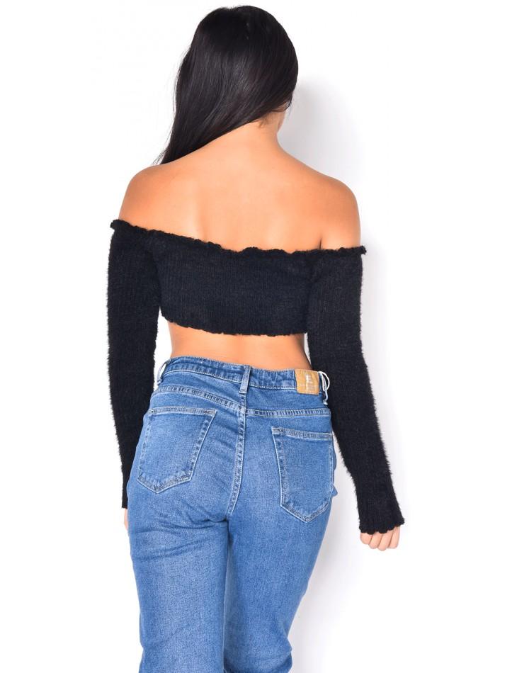 Soft Long-Sleeved Crop Top
