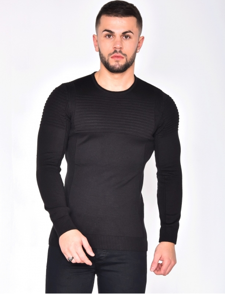 Jumper with Contrasting Insert