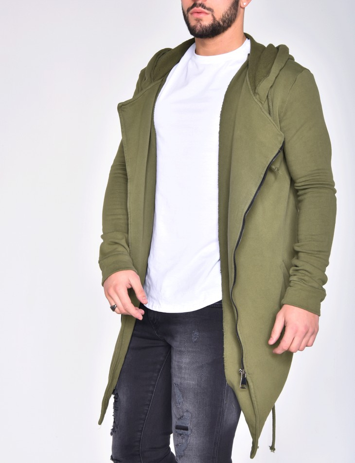 Oversized Zipped Jacket with Hood