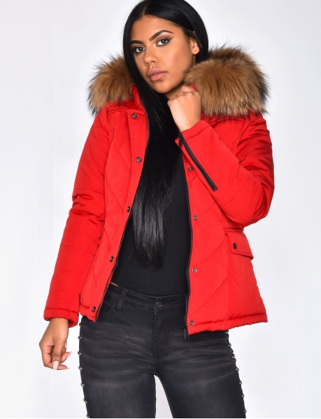 Real Fur Padded Jacket