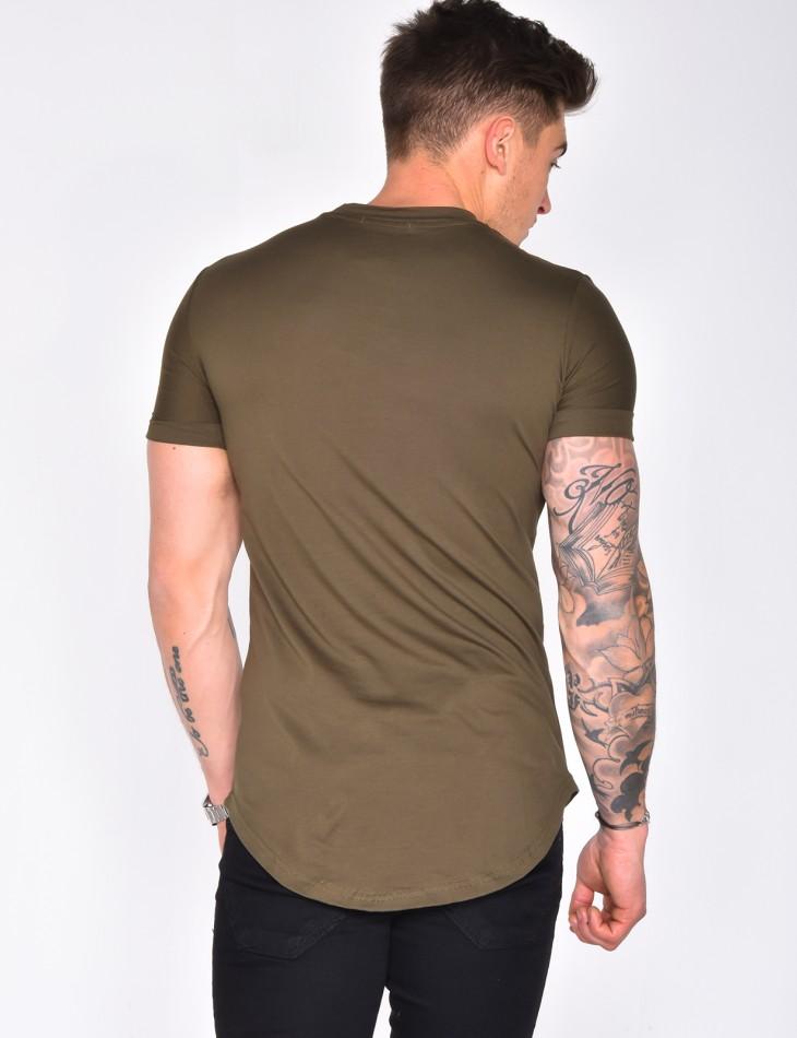 T-shirt à bandes et patches