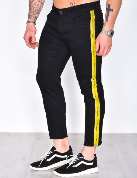 Jeans with Yellow Stripes