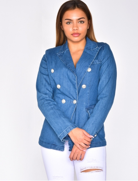 Blazer en jeans officier