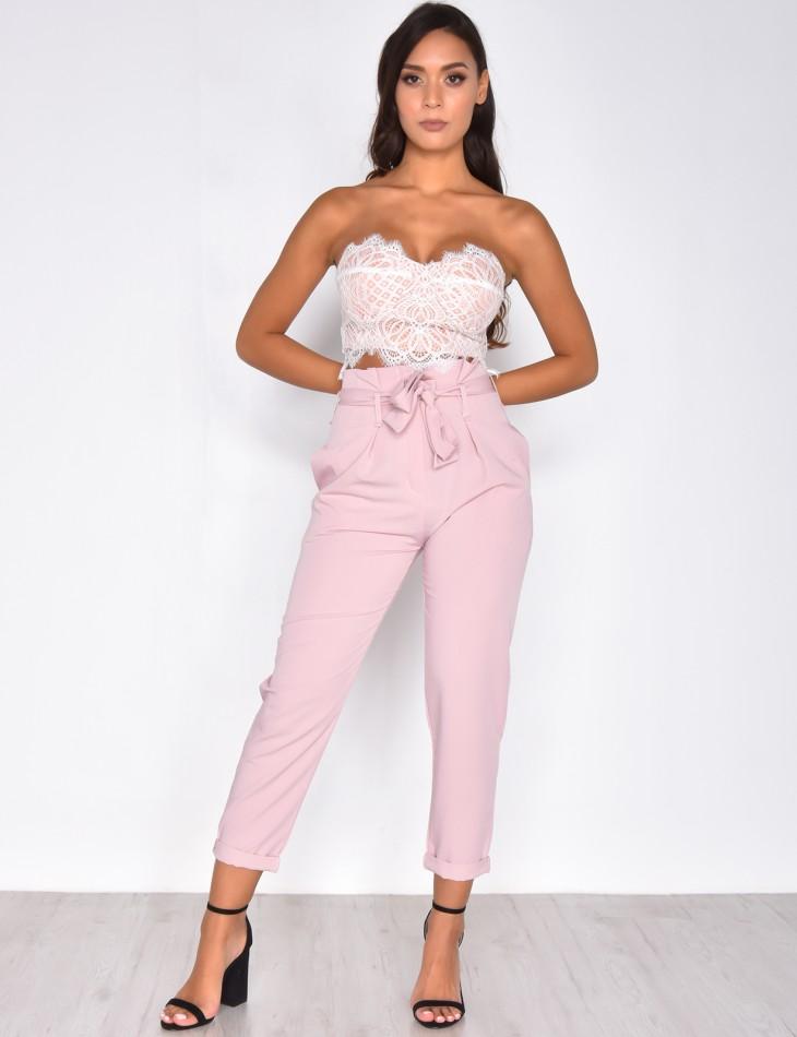 Pantalon tailleur taille haute - Jeans Industry
