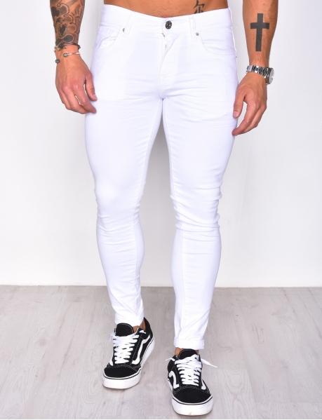 Jeans blanc skinny