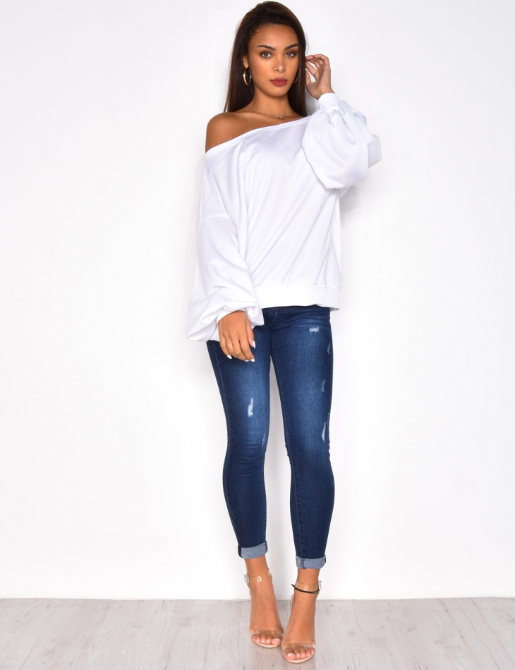 Oversized Jumper with Wide Sleeves