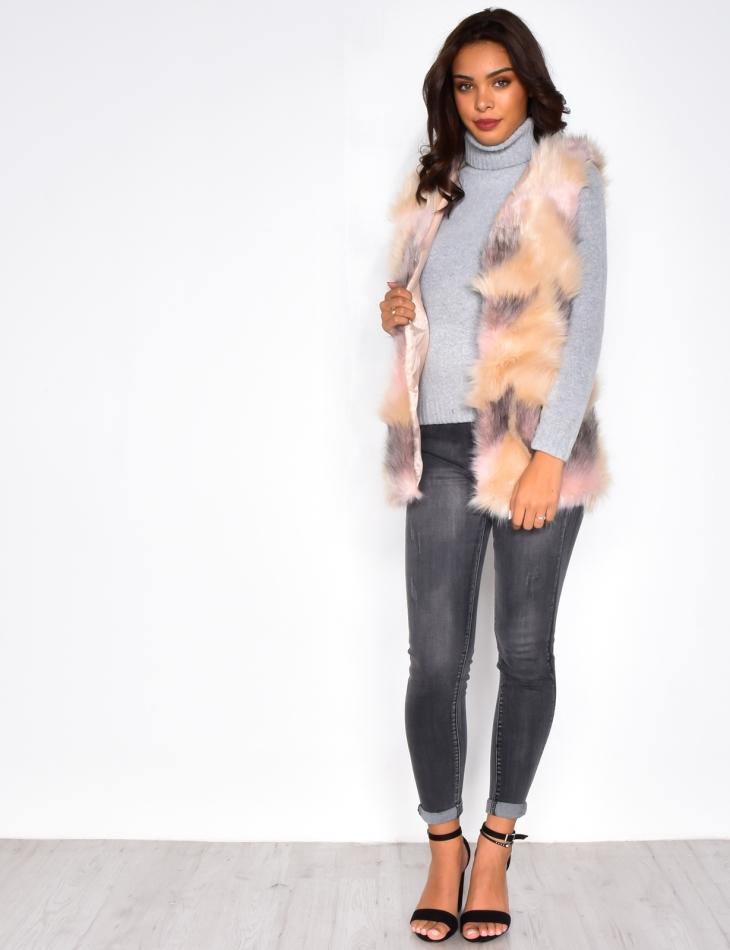 Sleeveless Faux Fur Vest