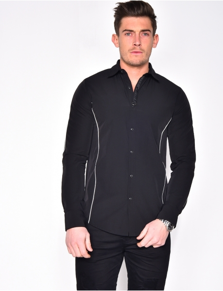 Long Sleeved Shirt with Trim