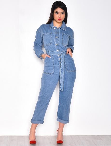 Combinaison en jeans oversize