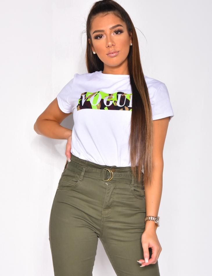 T-shirt VOGUE camo