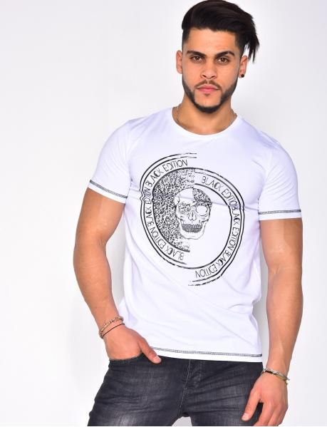 """T-shirt """"Black Edition"""" tête de mort"""