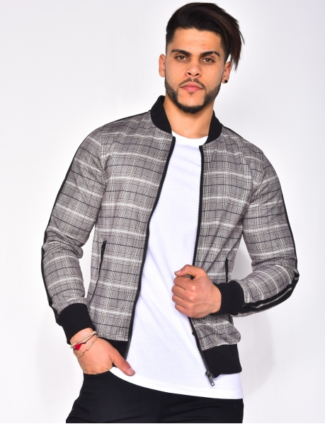 Suedette Checked Jacket