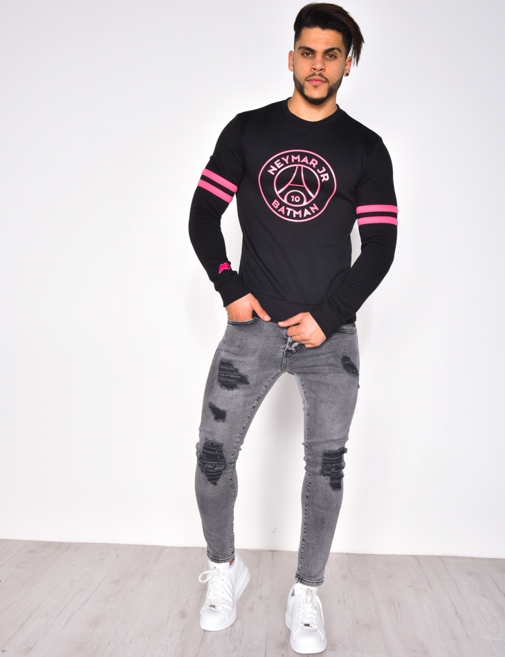 Neymar Jr Sweatshirt with Round Neckline