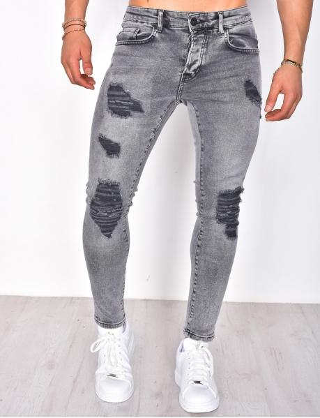 Jeans slim destroy