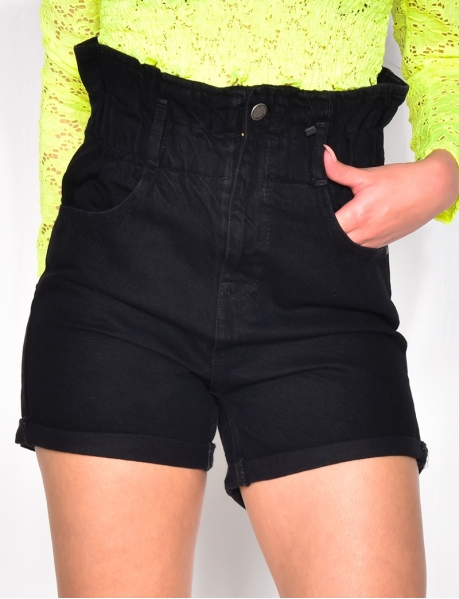 Denim Shorts with Elasticated Waist