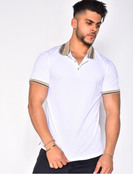 Polo Shirt with Symmetrical Pattern