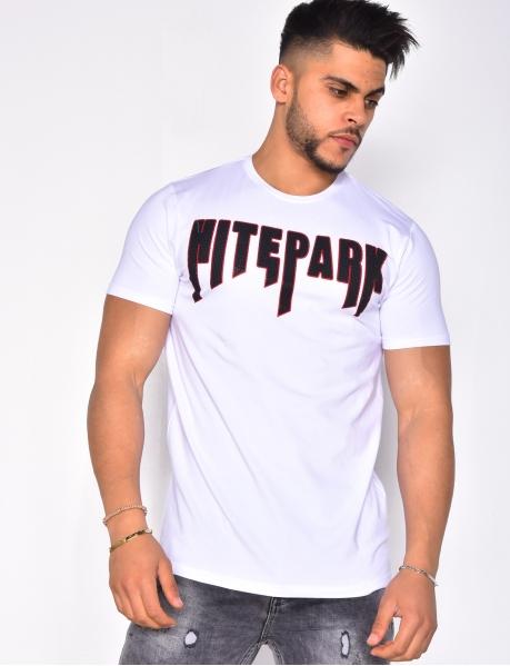 "T-shirt ""HITEPARK"" à strass"