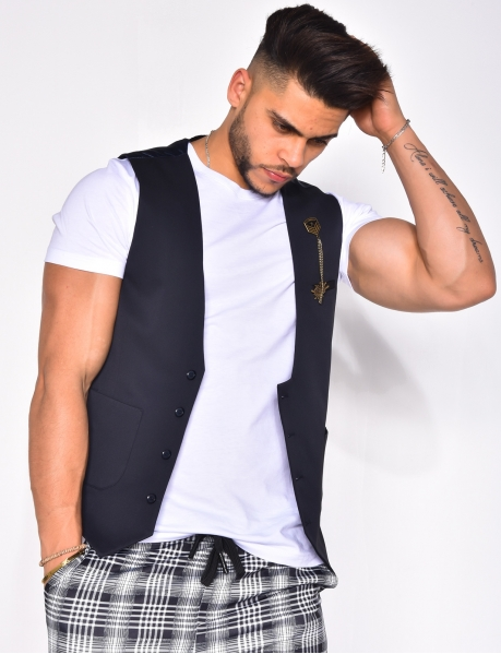 Suit Waistcoat with Medal