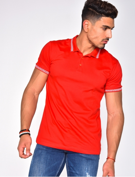 Polo Shirt with Symmetrical Pattern