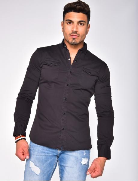 Chemise épaisse à poches