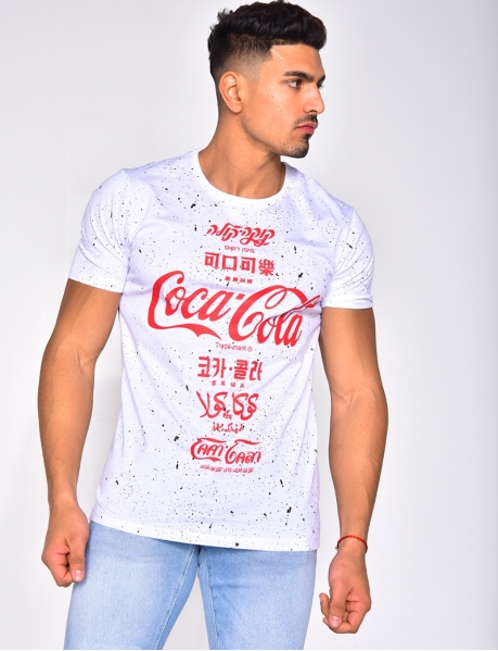 Speckled 'Coca-Cola' T-shirt