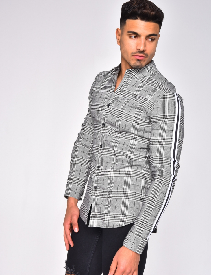 Checked Shirt with Stripes