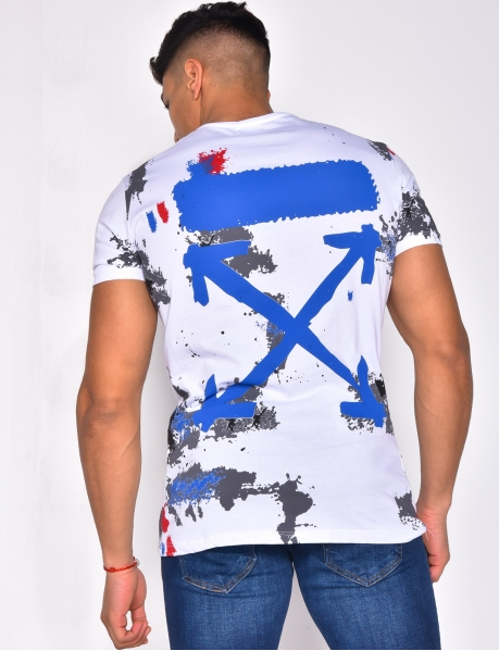 T-shirt with Paint Splashes