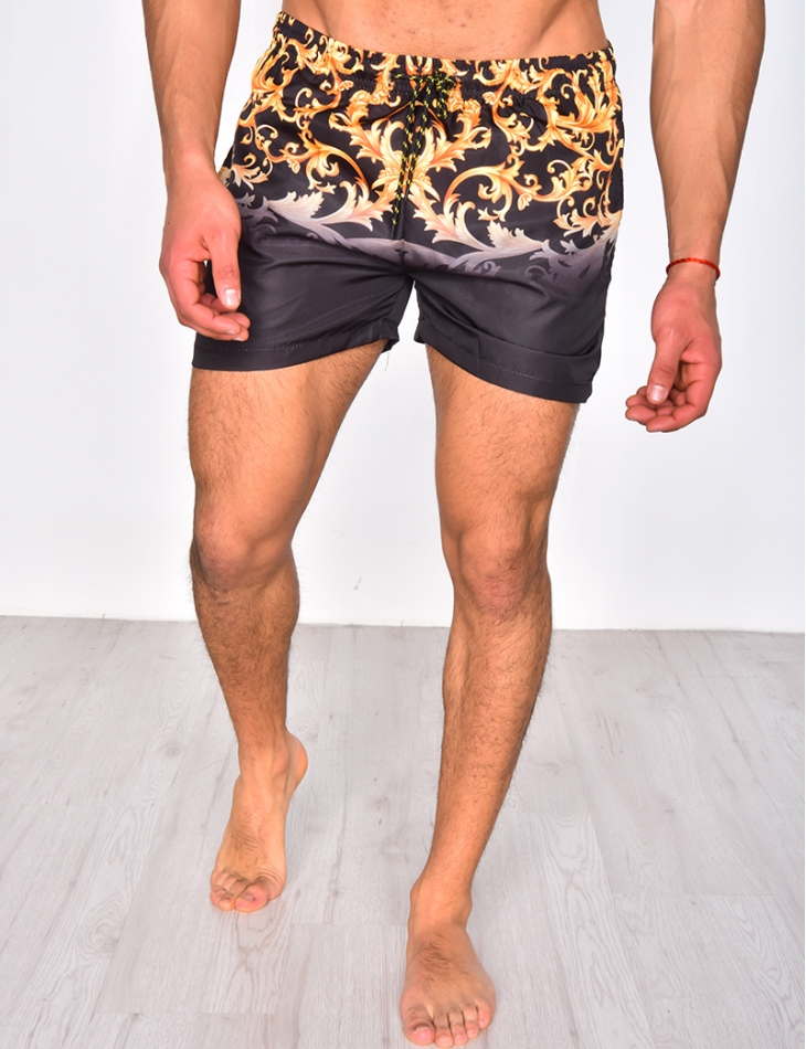 Swimming Trunks with Baroque Pattern