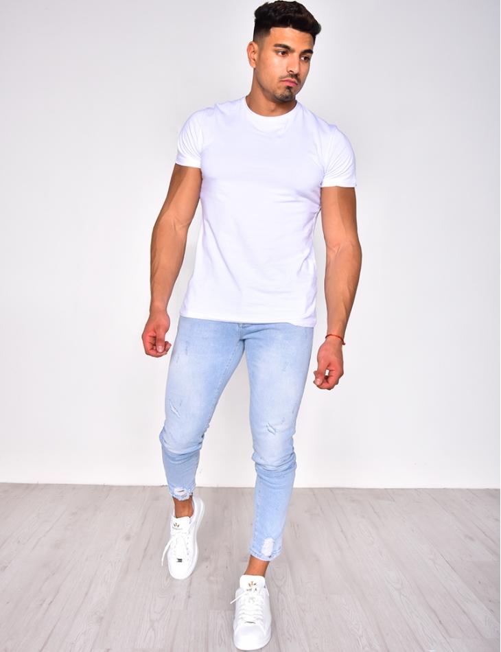 Jeans clair destroy