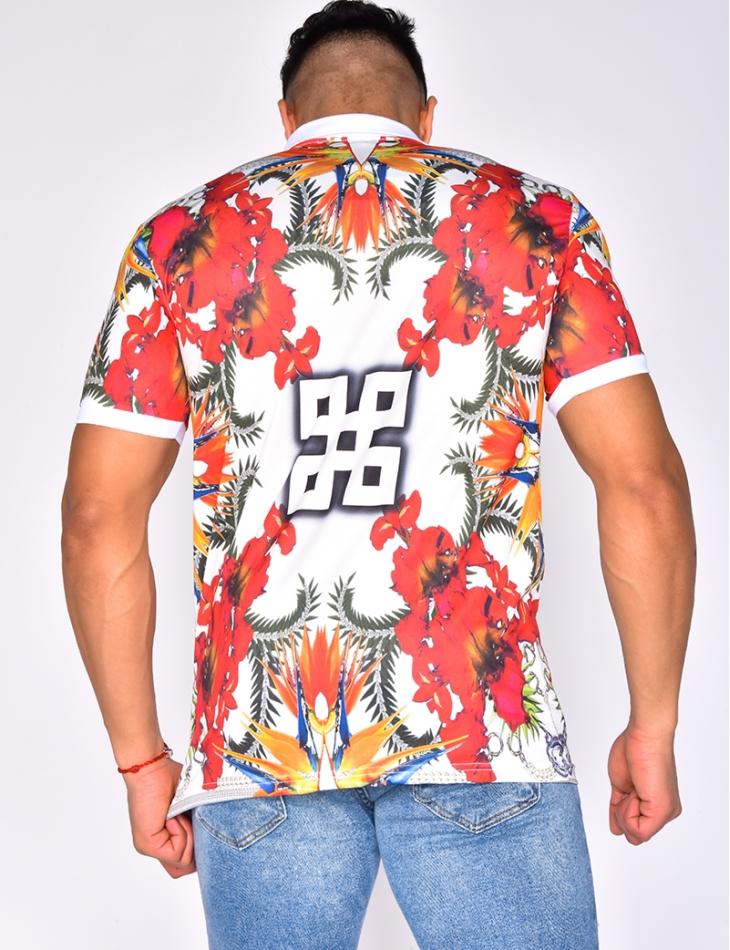 Flowery Polo Shirt