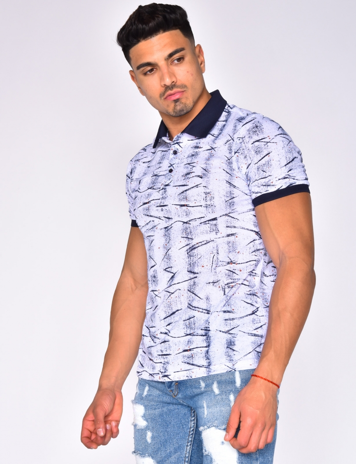 Speckled Polo Shirt