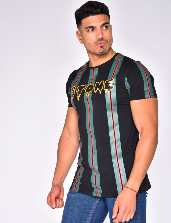'STONE' T-shirt with Stripes
