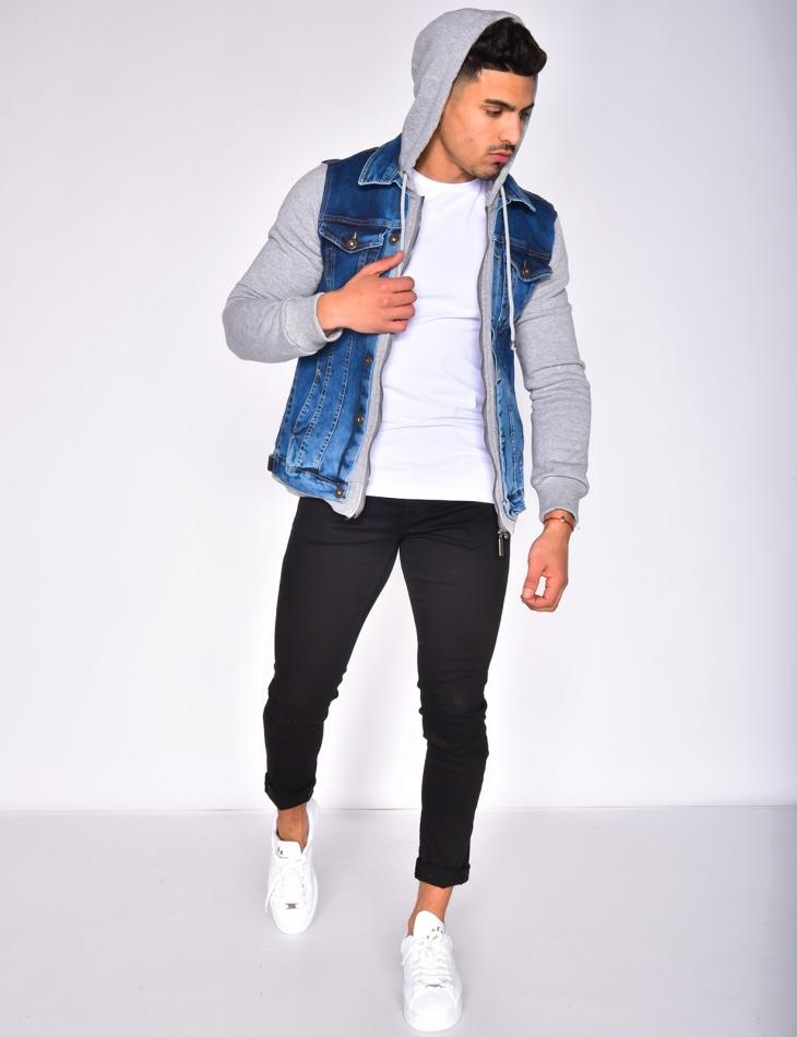 Veste en jeans à capuche
