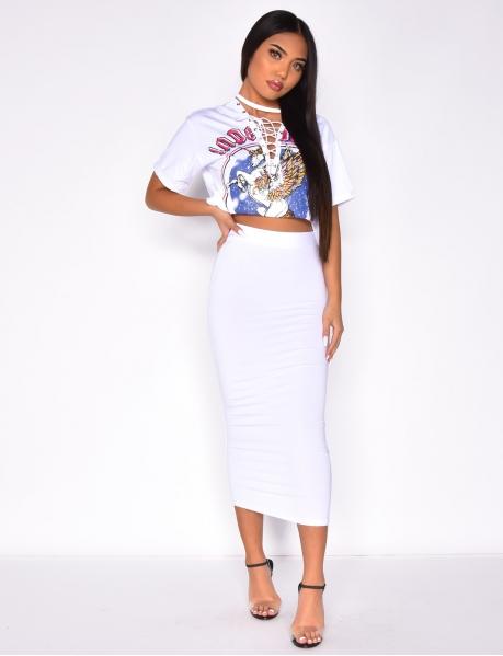 Mid-Length Bodycon Skirt