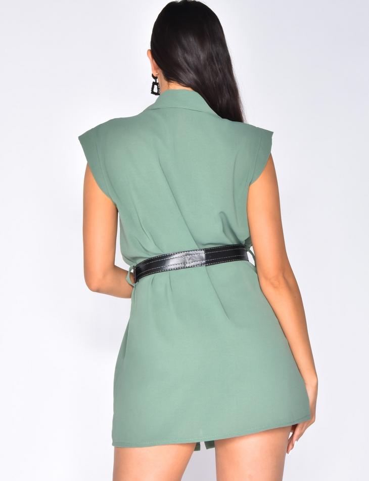 Shirt Dress with Belt