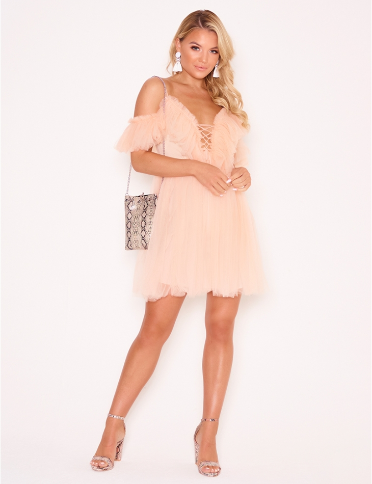 Tulle Dress with Ruffles