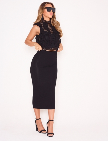 Mid-Length Bodycon Skirt