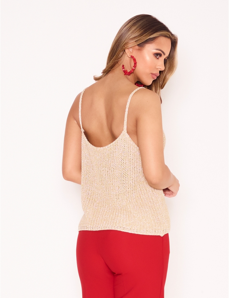 Iridescent Knit Vest Top