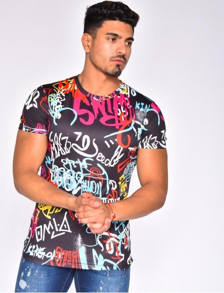 T-shirt with Graffiti