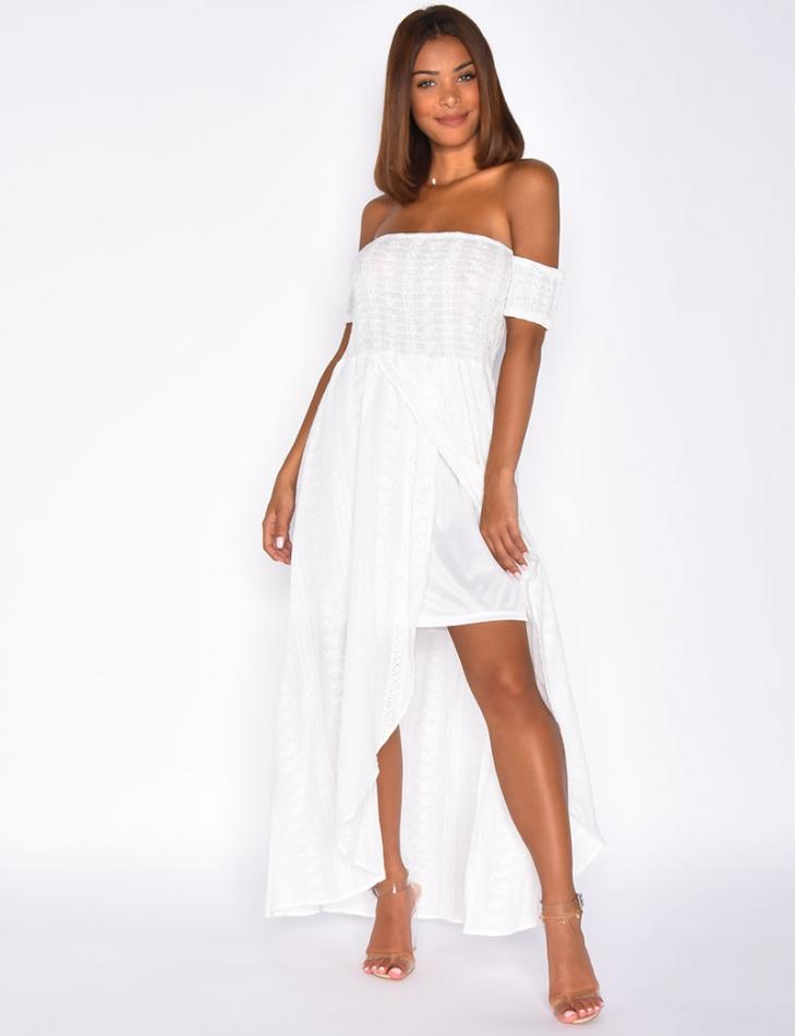Off-the-Shoulder Embroidered Dress