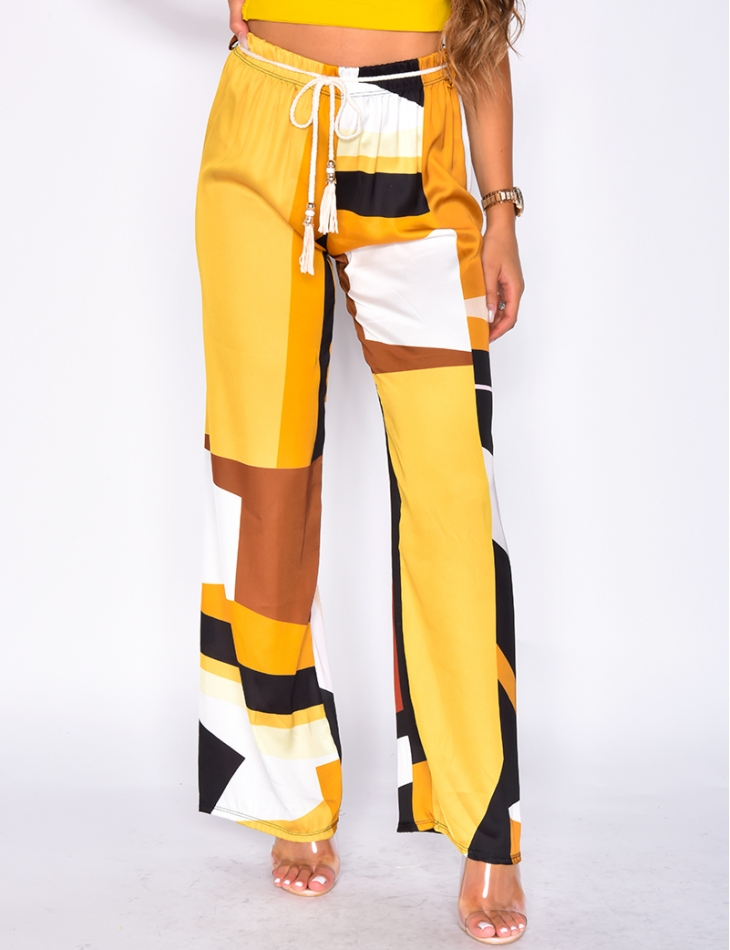 Loose Fit Trousers with Belt