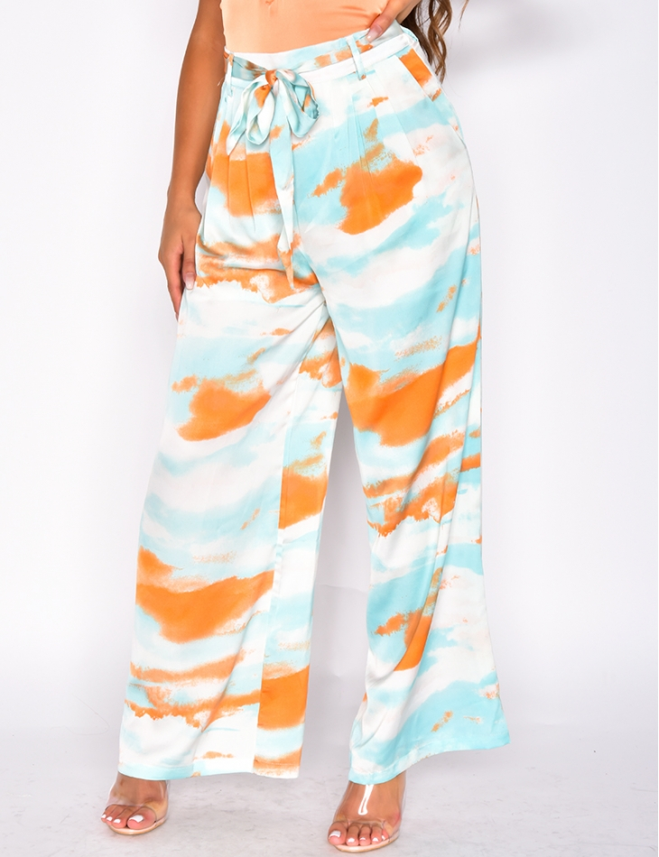 Loose Fit Tie Trousers