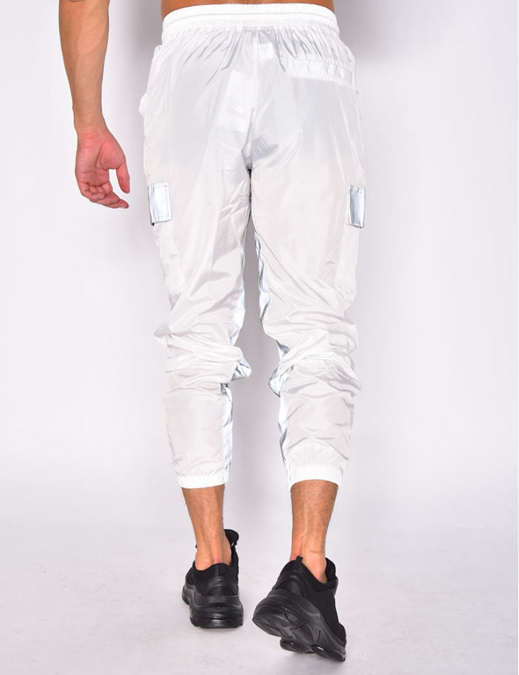Jogging Bottoms with Reflective Stripes