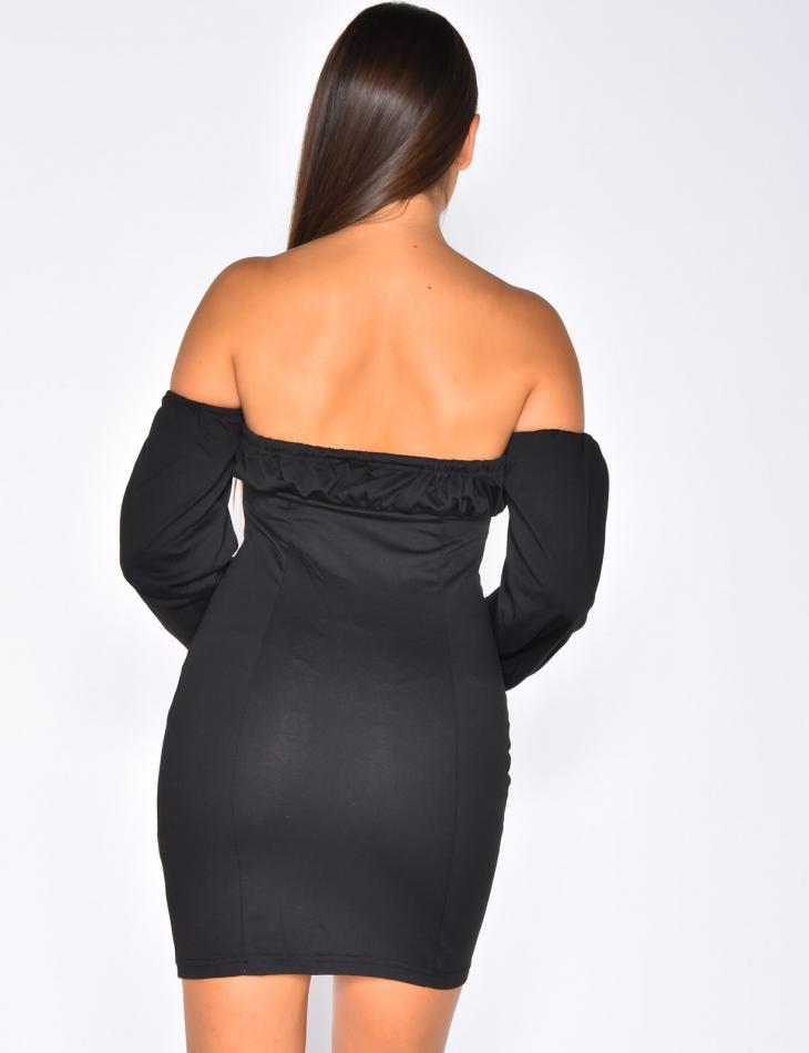 Bardot Dress with Clasps