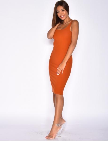Mid-Length Ribbed Dress