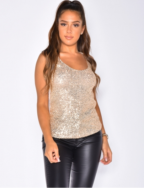 Sequin Vest Top